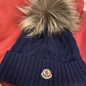 Navy blue moncler hat